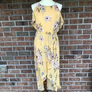 Maurice's Hi Lo Cold Shoulder Halter Style Dress M